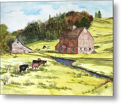 Lanesboro Barn Metal Print by Susan Crossman Buscho
