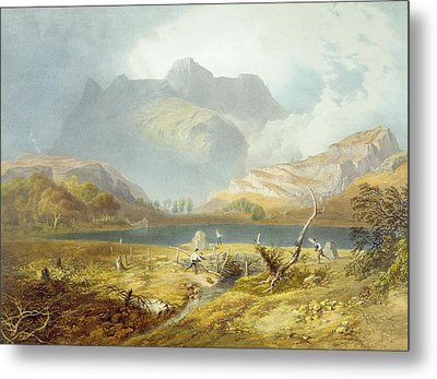 Langdale Pikes, From The English Lake Metal Print by James Baker Pyne