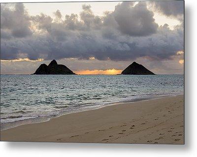 Lanikai Beach Sunrise 4 - Kailua Oahu Hawaii Metal Print by Brian Harig