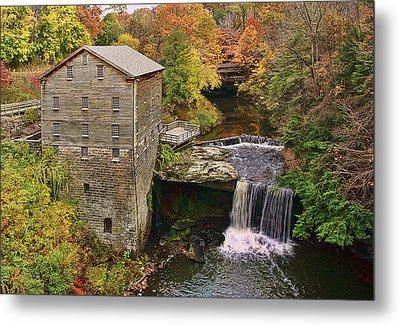Lanterman's Mill And Bridge Metal Print by Marcia Colelli