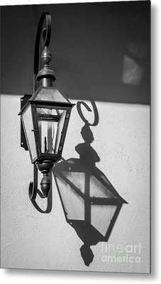 Lantern Reflection Metal Print by Inge Johnsson