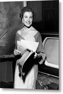 Laraine Day, On The Set Of Her Talk Metal Print by Everett