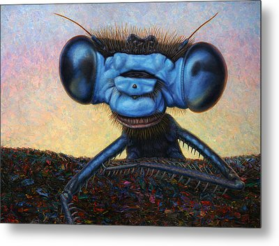 Large Damselfly Metal Print by James W Johnson