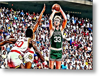 Larry Bird Metal Print by Florian Rodarte