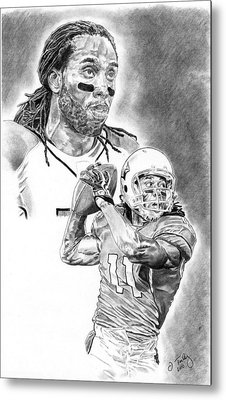 Larry Fitzgerald Metal Print by Jonathan Tooley
