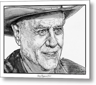 Larry Hagman In 2011 Metal Print by J McCombie