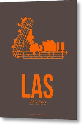 Las Las Vegas Airport Poster 1 Metal Print by Naxart Studio