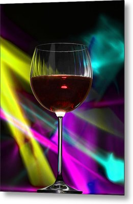 Laser Wine Metal Print by Dennis James