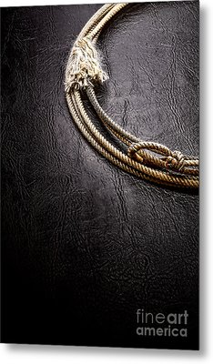 Lasso On Leather Metal Print by Olivier Le Queinec
