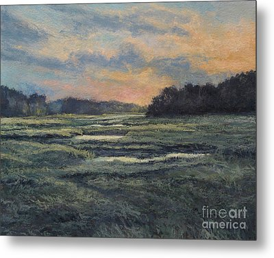 Last Light On The Marsh - Wellfleet Metal Print by Gregory Arnett