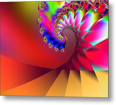 Last Wave - Sunset Metal Print by Wendy J St Christopher