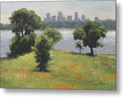 Late Afternoon At Winfrey Point Metal Print by Anna Rose Bain