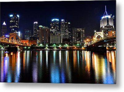 Late Night Out Metal Print by Frozen in Time Fine Art Photography
