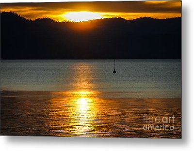 Late Summer Sunset Metal Print by Mitch Shindelbower