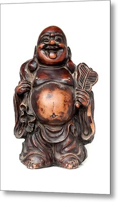 Laughing Buddha Metal Print by Fabrizio Troiani