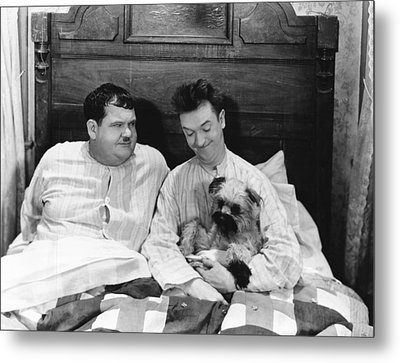 Laughing Gravy, From Left Oliver Hardy Metal Print by Everett