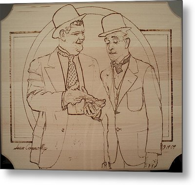 Laurel And Hardy - Thicker Than Water Metal Print by Sean Connolly