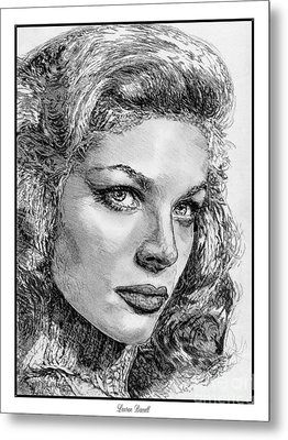 Lauren Bacall Metal Print by J McCombie