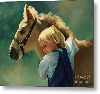 Lauren's Pony Metal Print by Laurie Hein
