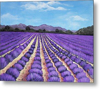 Lavender Field In Provence Metal Print by Anastasiya Malakhova