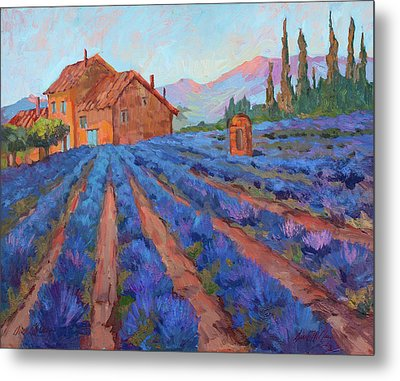 Lavender Field Provence Metal Print by Diane McClary