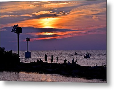 Lavender Sunset Metal Print by Frozen in Time Fine Art Photography