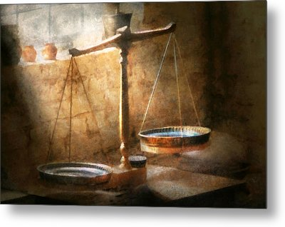 Lawyer - Scale - Balanced Law Metal Print by Mike Savad