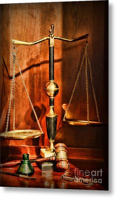 Lawyer - Scales Of Justice Metal Print by Paul Ward