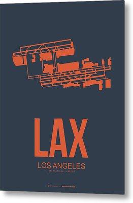 Lax Airport Poster 3 Metal Print by Naxart Studio