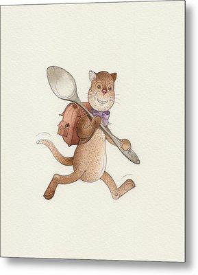 Lazy Cats06 Metal Print by Kestutis Kasparavicius