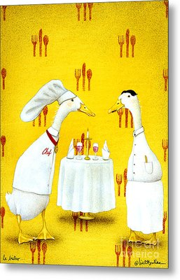 Le Bistro... Metal Print by Will Bullas