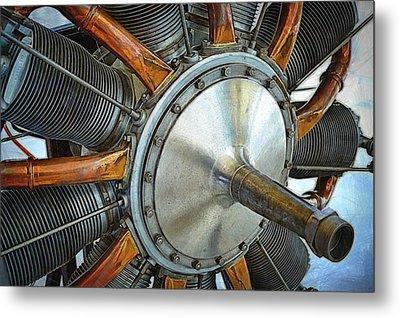 Le Rhone C-9j Engine Metal Print by Michelle Calkins