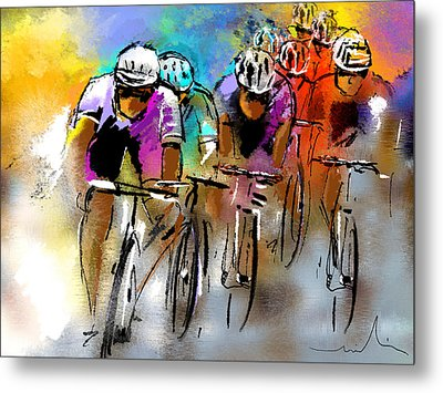 Le Tour De France 03 Metal Print by Miki De Goodaboom