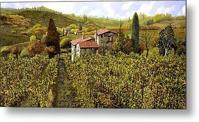 Le Vigne Toscane Metal Print by Guido Borelli