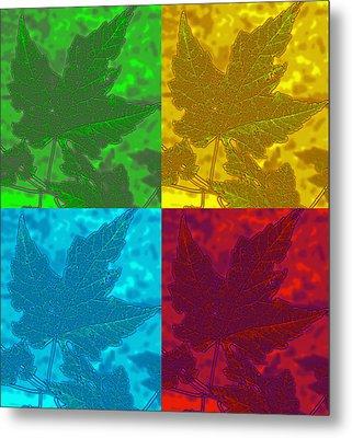 Leaf Pop Art Metal Print by Barbara McDevitt