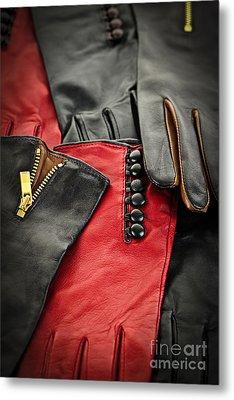 Leather Gloves Metal Print by Elena Elisseeva