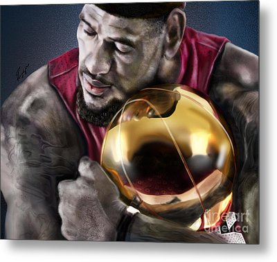 Lebron James - My Way Metal Print by Reggie Duffie