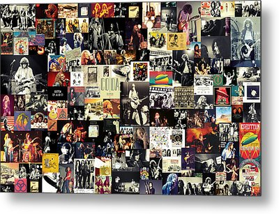 Led Zeppelin Collage Metal Print by Taylan Apukovska
