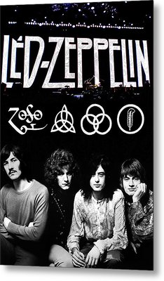 Led Zeppelin Metal Print by FHT Designs