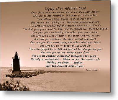 Legacy Of An Adopted Child Metal Print by Trish Tritz
