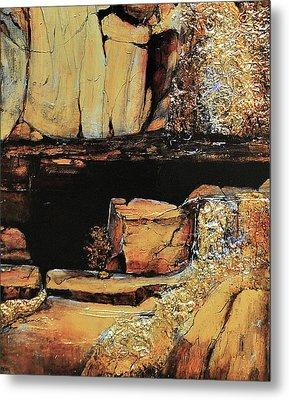 Legendary Lost Dutchman Mine Metal Print by JAXINE Cummins