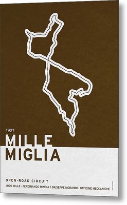 Legendary Races - 1927 Mille Miglia Metal Print by Chungkong Art