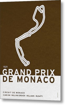 Legendary Races - 1929 Grand Prix De Monaco Metal Print by Chungkong Art
