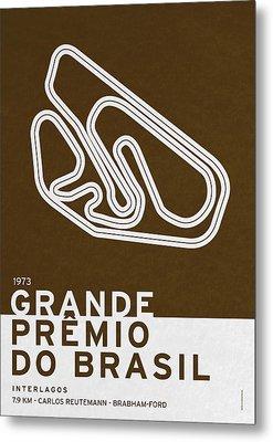 Legendary Races - 1973 Grande Premio Do Brasil Metal Print by Chungkong Art