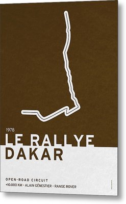 Legendary Races - 1978 Le Rallye Dakar Metal Print by Chungkong Art