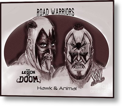 Legion Of Doom- The Road Warriors Metal Print by Chris  DelVecchio