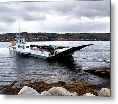 Lehave Cable Ferry Metal Print by Janet Ashworth