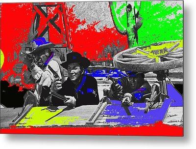 Leif Erickson Cameron Mitchell  Mark Slade Number 2 The High Chaparral Set Old Tucson Az 1969-2008 Metal Print by David Lee Guss