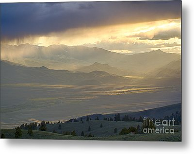 Lemhi Valley Light Metal Print by Idaho Scenic Images Linda Lantzy
