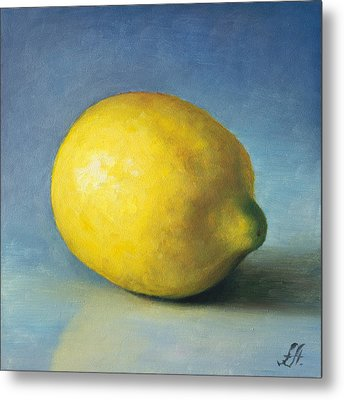 Lemon Metal Print by Anna Abramska